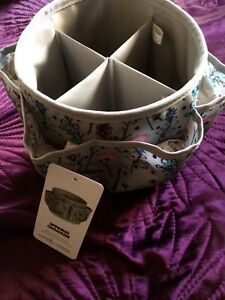 EVERYTHING MARY PAINTED FLORAL DOT SPINNING ORGANIZER