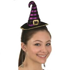 e9ca4f4c18587 Mini Witch Hat Headpiece   Dangling Spiders Adult Halloween Costume  Accessory
