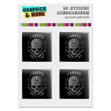 Carved One Shot Kill USA Flag Skull Computer Case Modding Badge Stickers Set