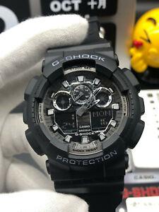NEW G-Shock Men's Watch Ana-Digi Dial Black Resin Strap Chronograph GA100CF-1A