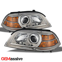 Fit 04-06 Acura MDX Replacement Projector Headlights Headlamps Left + Right Pair