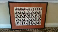 MGM   CASINO CHIPS  LABEL MIKE TYSON 1995 BOXING FULL UNCUT RARE SHEET  G
