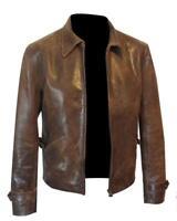 Mens Leather Jacket | James Bond Skyfall Daniel Craig Men's Brown leather jacket