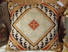 "18"" COMPLETED HANDMADE European Interior Decor Wool Needlepoint Throw Pillow"