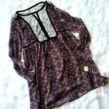 New Knox Rose Women's Fashion Long Sleeve Bohemian Dress Dusty Purple, Size XS