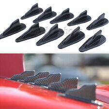 10pcs Carbon Fiber Look Car Roof Spoiler Wings Shark Fins Air Diffuser Dams