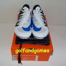 Nike Zoom JA Fly 2 Track Running Shoes WHITE 705373 100 MEN 5 +Bonus Spikes