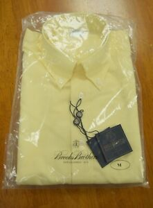NWT Brooks Brothers Button Down Yellow Long Sleeve Regent Fit Dress Shirt $92