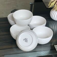 Gibson White Elements Fleetwood Set of (6) 3.8 Dipping Bowls Open Box