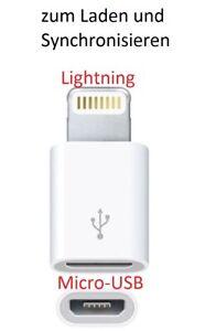 Adapter Micro-USB auf Lightning für Apple z.B. IPhone IPad IPod synchronisieren