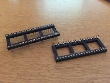 IC Socket 40 pines Torneado Pitch 0.6 Agujero Pasante 2.54 2 piezas HU57