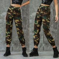 Women  Army Military Combat Camouflage Pant Camo Cargo Trousers Long Pants US
