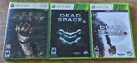 Dead Space Trilogy 1 2 3 Triple Pack Bundle Lot XBox 360 Microsoft