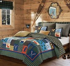 """Lake & Lodge"" Patchwork-3 Pc. Quilt Set-King-With 2 Shams 105 X 95"