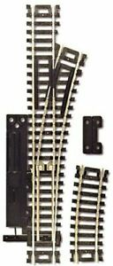 Atlas 861 HO-Scale Code 100 Right Manual Snap Switch Nickel Silver & Black Ties