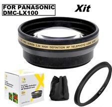 52mm 2.2x Pro Series Telephoto Lens For Panasonic Lumix DMC-LX100