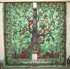 Window Door Curtains Tree Of Life Indian Mandala  Curtain Decor Panel Tapestries