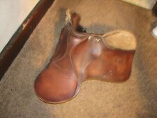 Vintage Leather derby SADDLE shows wear  TAKE A L@@@K   English Saddle