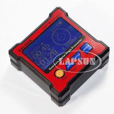 Doble Señal Eje Digital Transportador Inclinometro Nivel Caja De Medidor de 0,01 ° Dxl 360