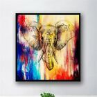 Modern Colorful Elephant Canvas Wall Art Print Oil Painting Home Office Decor