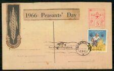 Mayfairstamps Burma 1967 Woman Cutting Wheat Peasants Day Card wwi_80445