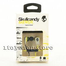 Skullcandy Merge 2 In-Ear BUDS Headphones Earbuds w/Mic Remote Headset Gray/Lime