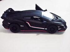 "Matte Black Lamborghini Veneno 1:36 Diecast Car 5 "" Model KT5367 Luxury Sports"