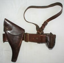 Attributed DLI Officers Sam Browne Belt, Holster & Pouch