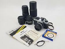 NIKON FM-2 35MM SLR FILM CAMERA & 4 LENSES 28MM, 50MM, 70-210MM, 200MM