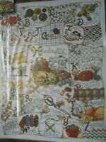 Sew Sewing Stitching ABCs Sampler Counted Cross Stitch Kit 16x20