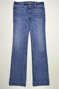 Ann Taylor LOFT Size 24 / 00 Womens MODERN Trouser STRETCH WIDE LEG Blue Jeans