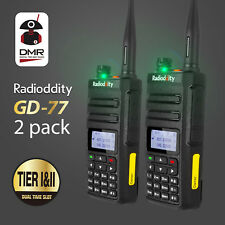 Radioddity GD-77 Dual Tier Digital Emisora Radio, 2pcs  (240406750)