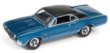 1/64 JOHNNY LIGHTNING 1967 Oldsmobile 442 W-30 in Bimini Blue Metallic w/ Black