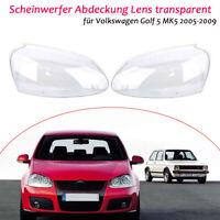 Scheinwerfer Abdeckung Lens transparent für Volkswagen Golf 5 MK5 2005-2009