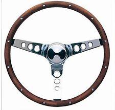 """Volkswagon Fox Jetta Rabbit Golf Grant Wood Steering Wheel Chrome 13 1/2"""" Walnut"""