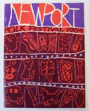 Vintage Program 1964 Newport Folk Festival Narragansett Brewing