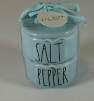 NEW! Rae Dunn Artisan Collection by Magenta Salt and Pepper Cellars Pastel Blue