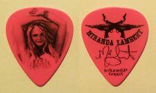 Miranda Lambert Signature Pink Guitar Pick - 2009 Roadside Bars Tour