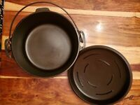 Griswold Iron Mountain #8 Dutch Oven (1036) & Matching Lid (1037A)