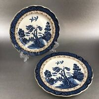 "Royal Doulton Booths Real Old Willow Majestic 2 X 6"" Bread Plate Antique England"