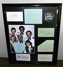 The Love Boat Autographed Cards & Pages 16x20 MacLeod Whelan Tewes Lange Grandy