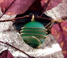 Colorful Vibrant Agate Slice Pendant Necklace Talisman Pendant in Bronze #20