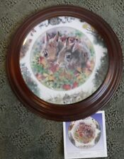 """""""September Solace"""" Backyard Buddies Plate, The Crestley Collection rabbit bunny"""