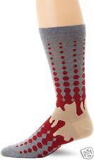K.Bell Men's Pair Socks Red Gray Beige Vapor Design Men's Cotton Blend Socks New