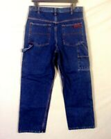 vtg 80s Rare Five Brother Men's Dark Wash Denim Carpenter Jeans Work sz 34 X 30
