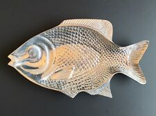 Polished Metal Fish Serving Platter Plate Tray Display
