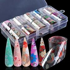 Macute Nail Foil Transfer Stickers Nail Art Supplies Foil Transfers 10 Rolls