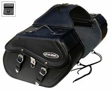 Oxide Rider Tek Leather Saddle Bags 2 x 18L Motorcycle Panniers