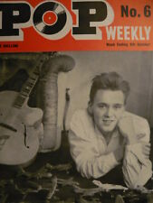 POP WEEKLY NO 6 OCT 1962 - BILLY FURY - DION - BOBBY VEE