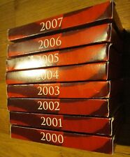 2000 01 02 03 04 05 06 07 U.S. Mint 8 Silver Proof Set with Box & COA